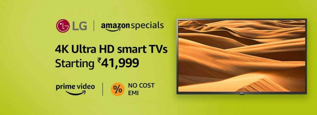 Amazon Great Indian Sale on Smart TVs